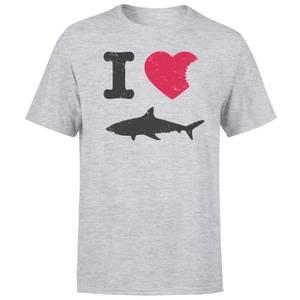 I Love Sharks T-Shirt - Grau