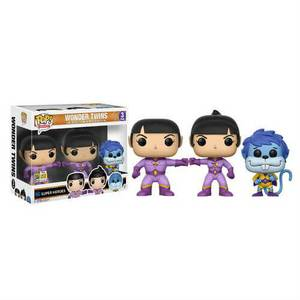 SDCC 17 Heroes Wonder Twins Zan, Jayna and Gleek EXC Pop! Vinyl Figur 3 Pack