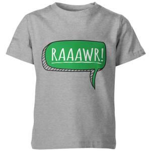 My Little Rascal Kids Dinosaur Rawr! Grey T-Shirt