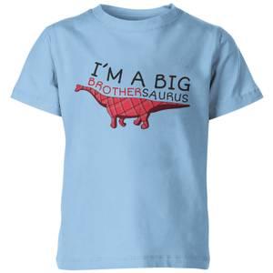 My Little Rascal Im A Big Brothersaurus Kids' T-Shirt - Light Blue