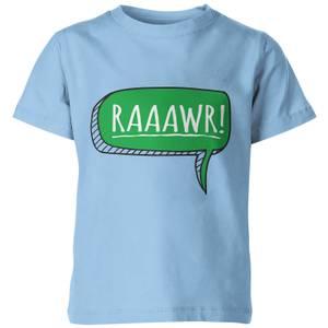 My Little Rascal Dinosaur Rawr! Kids' T-Shirt - Light Blue