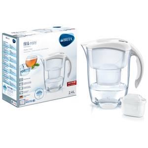 BRITA Maxtra+ Elemaris Cool Meter Water Filter Jug - White