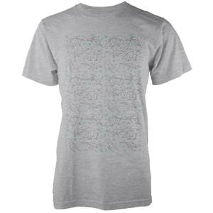 Origami Dinosaur All Over Grey T-Shirt
