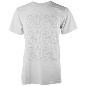 Origami Dinosaur All Over White T-Shirt
