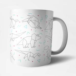 Origami Dinosaur Mug