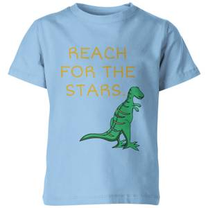 My Little Rascal Dinosaur Reach For The Stars Kids' T-Shirt - Light Blue