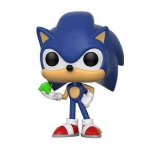 Sonic the Hedgehog Sonic con Emerald Figura Pop! Vinyl