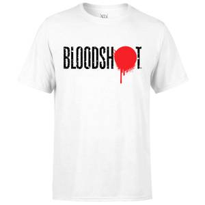 Valiant Comics Bloodshot Neues Abzeichen T-Shirt - Weíß