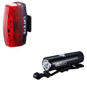 Cateye Volt 80 Front and Rapid Micro Rear USB Light Set