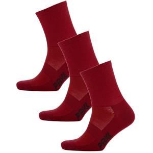 PBK Lightweight Socks Multipack - 3 Pairs - Red