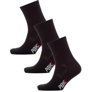 PBK Lightweight Socks Multipack - 3 Pairs - Black