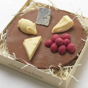 Schoko-Käsebrett aus handgefertigte Belgische Schokolade