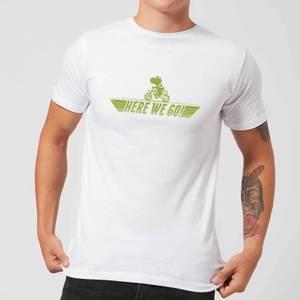 T-Shirt Homme Mario Kart Yoshi Here We Go Nintendo - Blanc