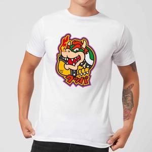 Nintendo Super Mario Bowser Kanji Men's T-Shirt - White