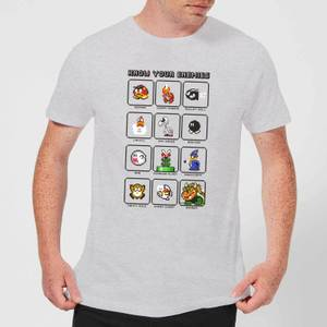 T-Shirt Homme Know Your Enemies Nintendo - Gris