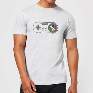 Nintendo SNES Controller Pad Men's T-Shirt - Grey