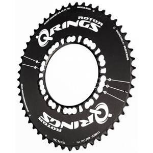 Rotor Q Aero Outer Chainring - Black