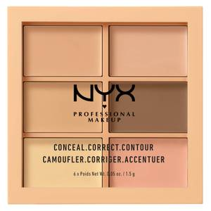 NYX Professional Makeup Paleta de Correctores y Contouring Conceal - Light