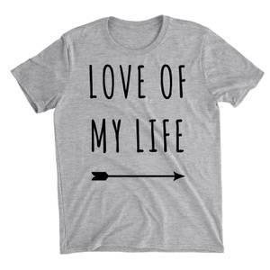 Love Of My Life Grey T-Shirt