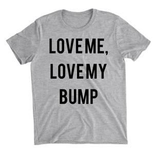 Love Me Love My Bump Grey T-Shirt