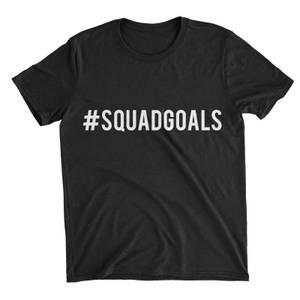 Squad Goals Black T-Shirt