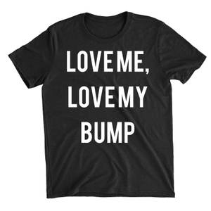 Love Me Love My Bump Black T-Shirt