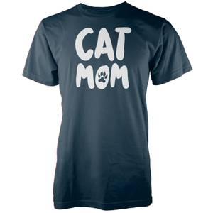 Cat MOM Navy T-Shirt