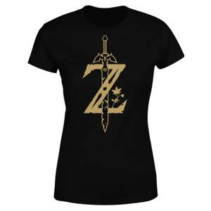 Nintendo The Legend Of Zelda Master Sword Women's T-Shirt - Black