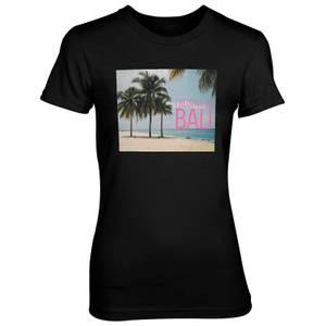 I Belong In Bali Women's Black T-Shirt