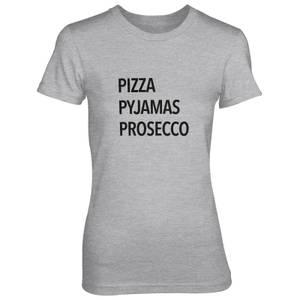 Pizza Pyjamas Prosecco Women's Grey T-Shirt
