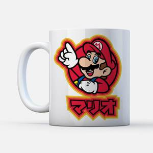 """Taza Nintendo Super Mario """"Mario Kanji"""""""