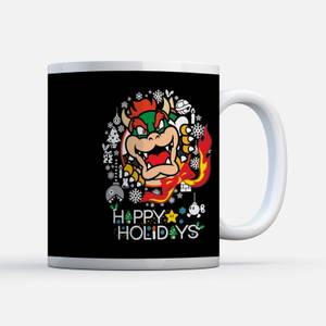 Nintendo Super Mario Bowser Wreath Mug