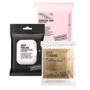 COMODYNES Make-Up Remover Micellar Solution Sensitive Skin + Easy Peeling Face & Body + Self-Tanning Natural & Uniform Color