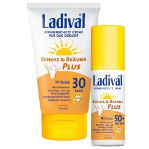 Ladival Schutz & Bräune Plus Sonnenschutz Creme für das Gesicht LSF 30 bzw. Schutz & Bräune Plus Sonnenschutz Spray LSF 50+