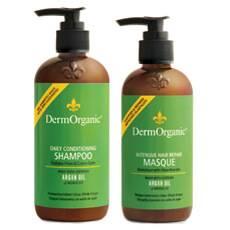 Dermorganic Shampoo & Intensive Hair Repair Masque/Conditioner