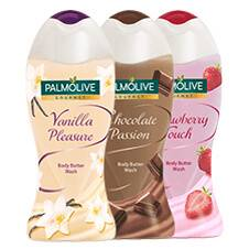 Palmolive Gourmet Body Butter Wash Chocolate Passion/Vanilla Pleasure/Strawberry Touch