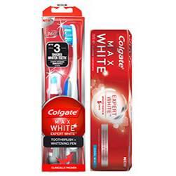 Colgate Max White Expert White Tannkrem & Max White Tannbørste og Whiteningpenn