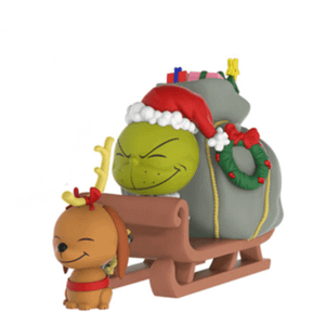The Grinch and Max on Sled Dorbz Ridez Vinyl Figure