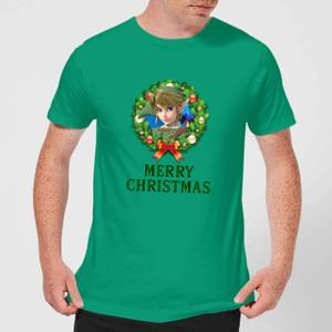 Nintendo Legend Of Zelda Merry Christmas Wreath Green T-Shirt