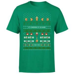 T-Shirt Homme It's Dangerous To Go Alone - The Legend Of Zelda Nintendo - Vert