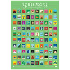 100 Orte Löffelliste Poster