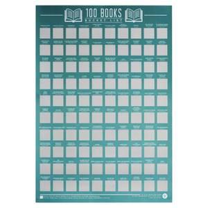 100 Bücher Eimerliste Poster