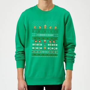Felpa Nintendo The Legend Of Zelda It's Dangerous To Go Alone Green Christmas