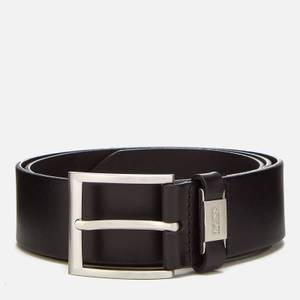 BOSS Business Men's Vegetable Tanned Leather Belt - Black