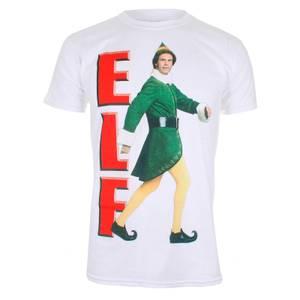 Elf Men's Christmas Elf Walking T-Shirt - White