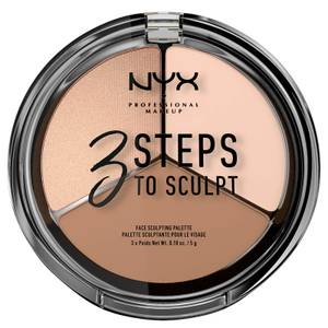 NYX Professional Makeup 3 Steps to Sculpt Face Sculpting Palette - Fair