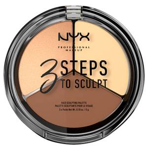 Paleta de contouring 3 Steps to Sculpt Face Sculpting Palette NYX Professional Makeup - Light
