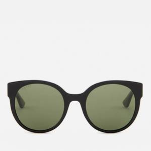 Gucci Women's Club Master Sunglasses - Black/Green - Black