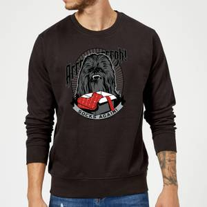 Star Wars Chewbacca Arrrrgh Socks Again Black Christmas Sweater