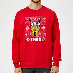 Pull de Noël Homme Marvel Comics The Mighty Thor - Rouge